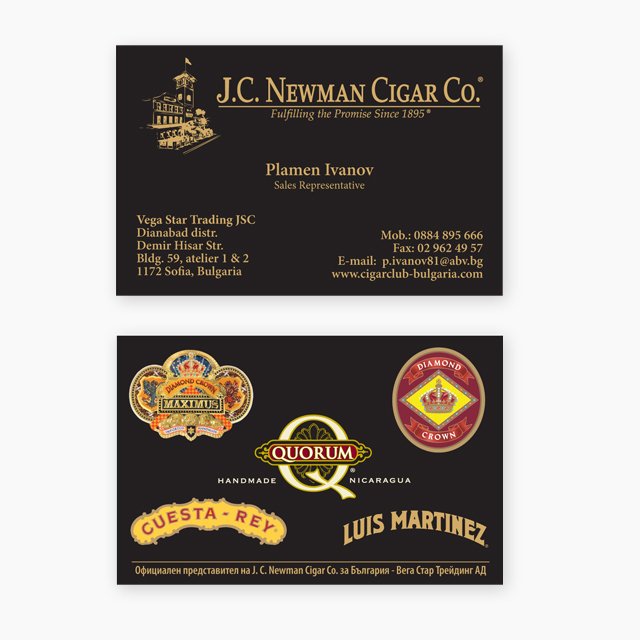 J.C.Newman business card